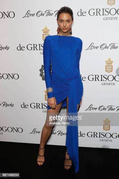 Jenaye Noah attends the DeGrisogono 'Love On The Rocks' during the 70th annual Cannes Film Festival at Hotel du CapEdenRoc on May 23 2017 in Cap...