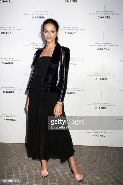 Jenaye Noah attends the launch of Lucia Pica's Chanel SpringSummer 2018 Make up Collection on October 12 2017 in Naples Italy