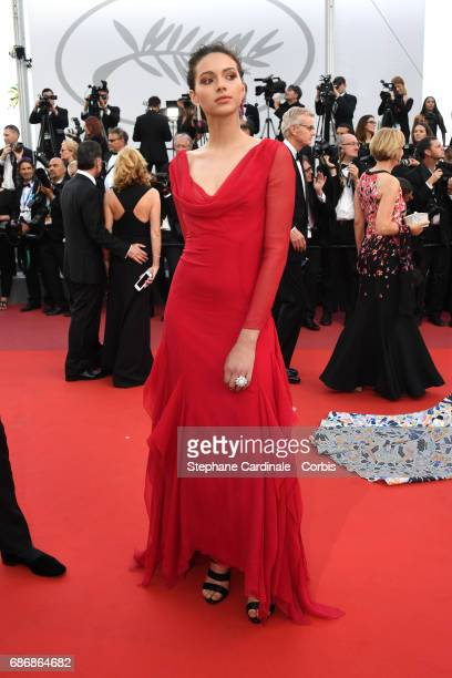 Jenaye Noah attends the 'The Killing Of A Sacred Deer' screening during the 70th annual Cannes Film Festival at Palais des Festivals on May 22 2017...