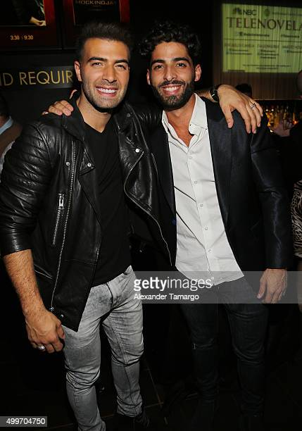 Jencarlos Canela and Jason Canela pose at the 'Telenovela' Miami screening event Hosted By The Smithsonian at CineBistro Dolphin Mall on December 2...