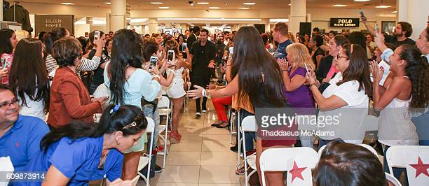 Jencarlos Canela arrives at the Macy's celebrates Hispanic Heritage Month with Jencarlos Canela at Dadeland Mall on September 22 2016 in Miami Florida