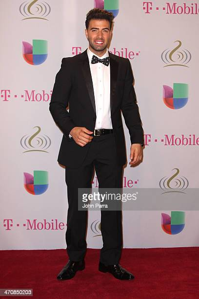 JenCarlos Canela attends Premio Lo Nuestro a la Musica Latina 2014 at American Airlines Arena on February 20 2014 in Miami Florida