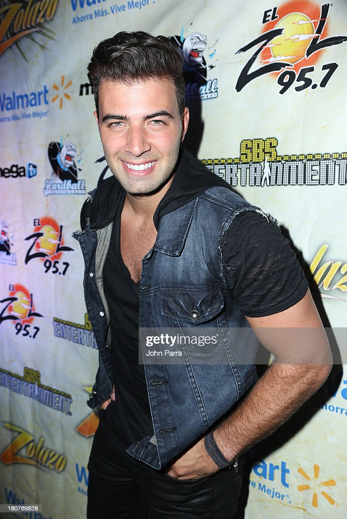 JenCarlos Canela backstage at the Zolazo concert at Bayfront Park Amphitheater on September 15, 2013 in Miami, Florida.