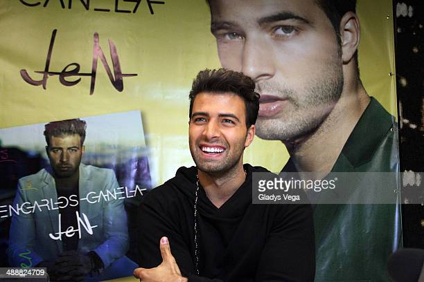 Jencarlos Canela holds a press conference on May 8 2014 in San Juan Puerto Rico