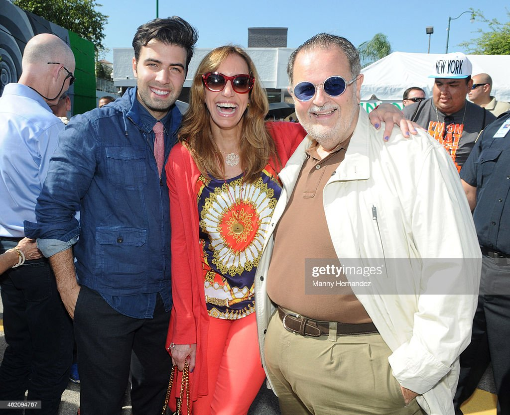 Jencarlos Canela, Lili Estefan and Raul De Molina participates in the 44th annual Three Kings Day Parade in Little Havana on January 12, 2014 in Miami, Florida.