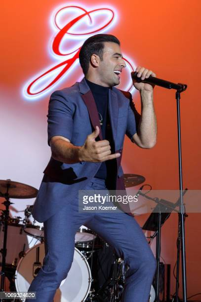 Jencarlos Canela performs on stage at 2018 Global Gift Gala at Eden Roc Hotel on December 6 2018 in Miami Beach Florida