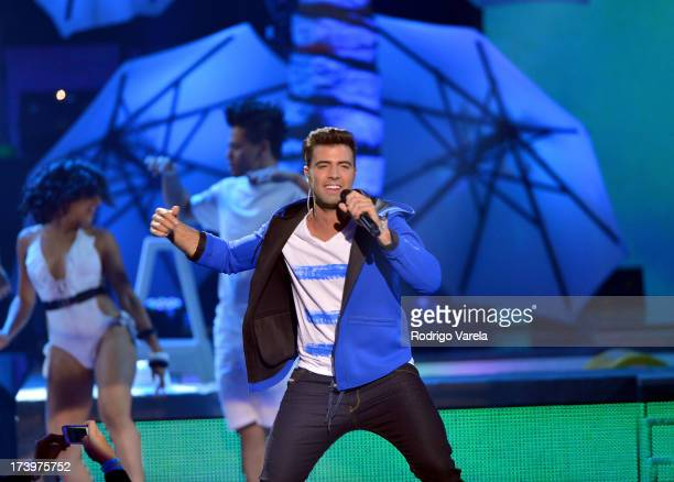 Jencarlos Canela performs onstage during the Premios Juventud 2013 at Bank United Center on July 18 2013 in Miami Florida