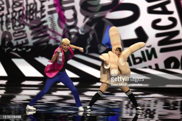 Jendrik Sigwart 'Jendrik' of Germany during the 65th Eurovision Song Contest dress rehearsal held at Rotterdam Ahoy on May 21, 2021 in Rotterdam,...