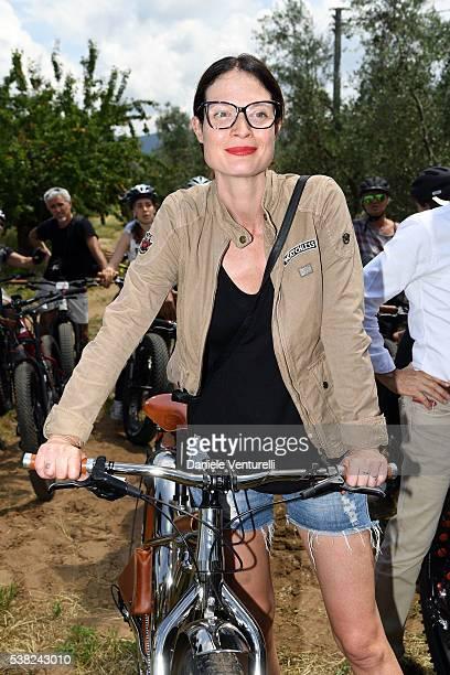 Jene Alexander attends Matchless E Bike Presentation on June 5 2016 at Casone Ugolino in Castagneto Carducci near Livorno Italy