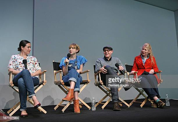Jenee LaMarque Zoe Kazan Steven Berger and Robin Schorr attend Meet the Filmmaker 'The Pretty One' during the 2013 Tribeca Film Festival at the Apple...