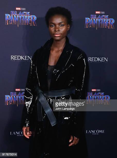 Jeneil Williams attends Marvel Studios Presents Black Panther Welcome To Wakanda during February 2018 New York Fashion Week The Shows at Industria...