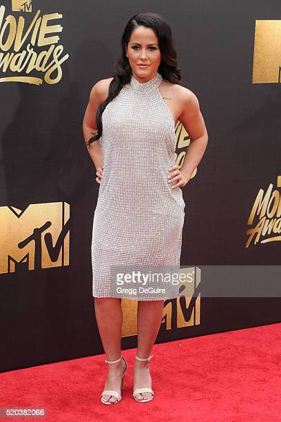 Jenelle Evans arrives at the 2016 MTV Movie Awards at Warner Bros Studios on April 9 2016 in Burbank California
