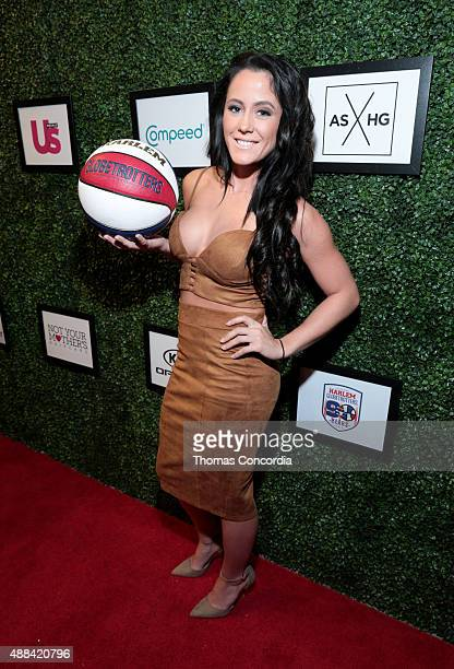 Jenelle Evans attends Angela Simmons Presents Foofi and Harlem Globetrotters 90th Anniversary Collection at KIA STYLE360 on September 15 2015 in New...
