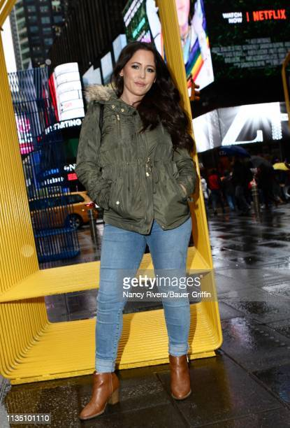 Jenelle Evans is seen on April 05 2019 in New York City