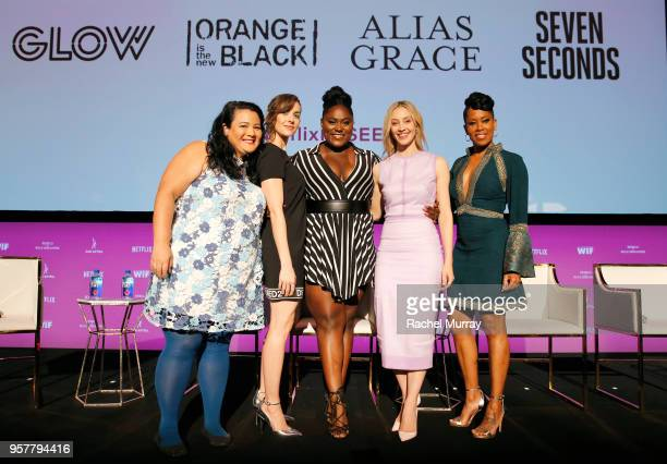Jenelle Riley Alison Brie Danielle Brooks Sarah Gadon and Regina King attend the Rebels and Rule Breakers Panel at Netflix FYSEE at Raleigh Studios...
