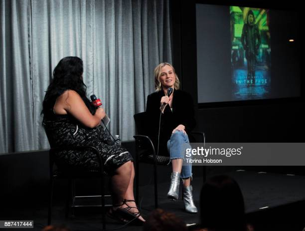 Jenelle Riley and Diane Kruger attend SAGAFTRA Foundation's conversations and screening of 'In The Fade' at SAGAFTRA Foundation screening room on...