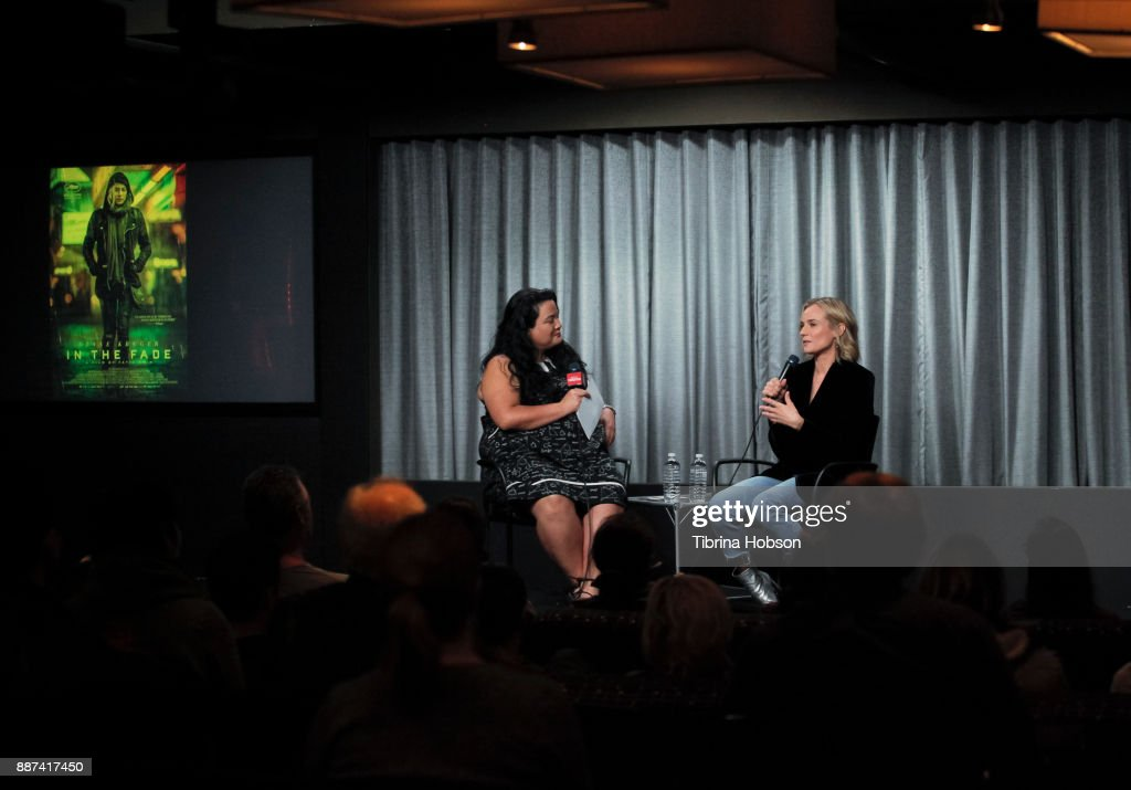 Jenelle Riley and Diane Kruger attend SAG-AFTRA Foundation's conversations and screening of 'In The Fade' at SAG-AFTRA Foundation screening room on December 6, 2017 in Los Angeles, California.