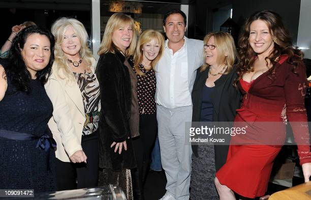 Jenelle Riley Connie Stevens Candy Clark Frances Fisher David O Russell Cathleen Summers and Joely Fisher attend L'Oreal Paris Sherry Lansing honor...