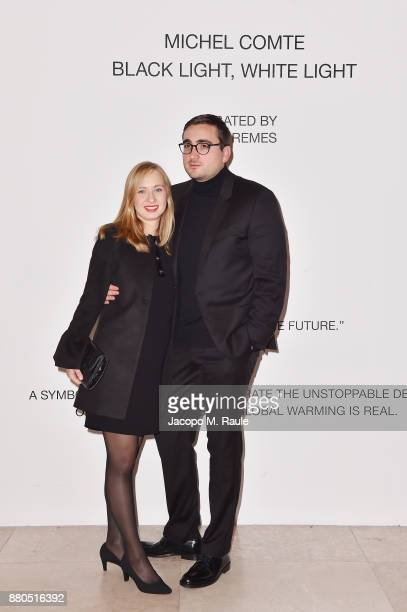 Jenes Remes attends Michel Comte Black Light White Light Opening at Triennale di Milano on November 27 2017 in Milan Italy