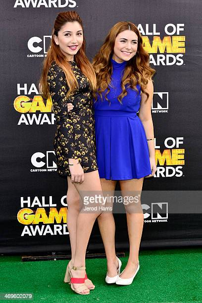 Jenessa Rose and Julianna Rose arrive at the 4th Annual Cartoon Network Hall Of Game Awards at Barker Hangar on February 15 2014 in Santa Monica...