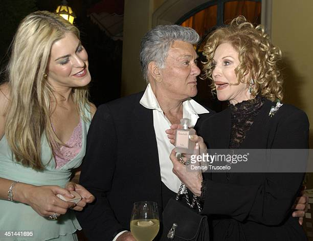 Jeneva Bell Tony Curtis Phyllis McGuire during Flowerbelle Perfume Launch Designed By Jeneva Bell at Bellagio Hotel in Las Vegas Nevada United States