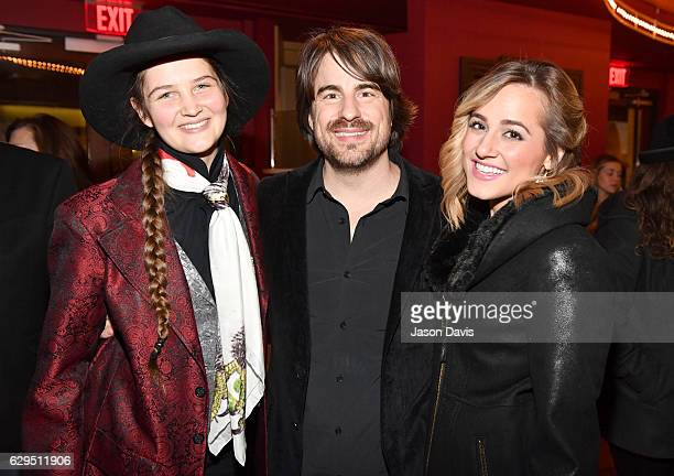 Jeneve Rose Mitchell Jimmy Wayne and Mary Sarah pose during A Welby Street Christmas Hosted by Serene Pearl at Franklin Theater on December 9 2016 in...