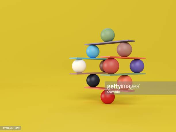 jenga game color block tower with balls - tower stock pictures, royalty-free photos & images
