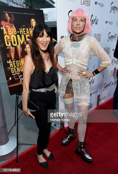 Jeni Chua and Kate Crash attend the Los Angeles Premiere of Support The Girls on August 22 2018 in Los Angeles California