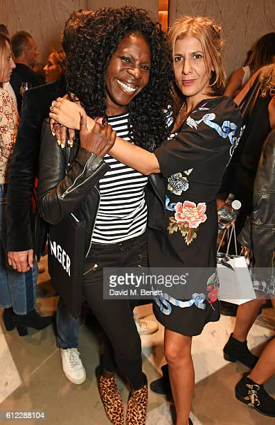 Jeni Cook and Azzi Glasser attend the launch of SX Rankin a new fragrance collaboration between photographer Rankin and fragrance designer Azzi...