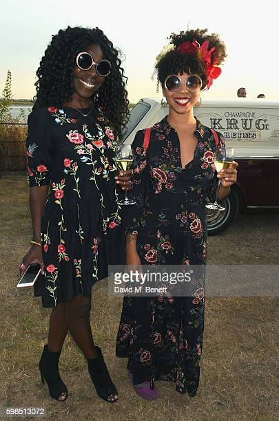 Jeni Cook and Hollie Cook attend Krug Island a food and music experience hosted by Krug champagne on September 1 2016 in Maldon England