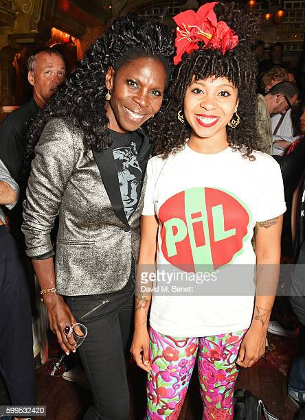 Jeni Cook and Hollie Cook attend the launch of Issues a new album by SSHH in aid of Teenage Cancer Trust at The Box on September 5 2016 in London...