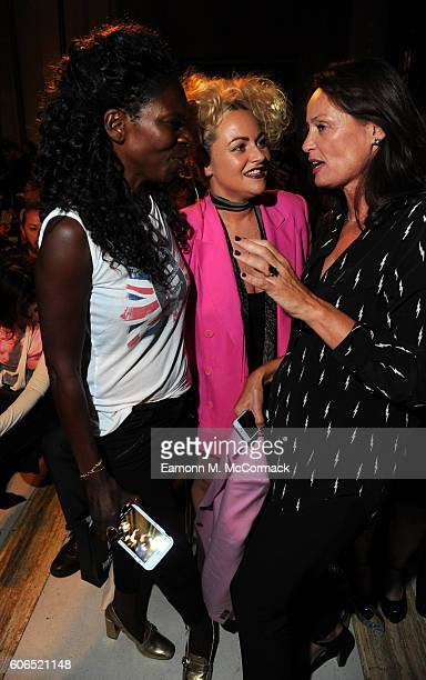 Jeni Cook and Jaime Winstone attend the Pam Hogg show at Fashion Scout during London Fashion Week Spring/Summer collections 2017 on September 16 2016...