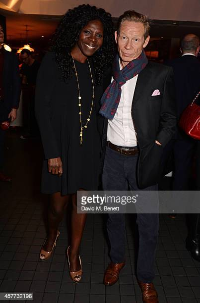 Jeni Cook and Paul Cook attend the press night performance of Memphis The Musical at The Floridita on October 23 2014 in London England