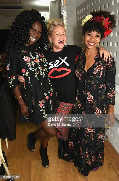 Jeni Cook Jaime Winstone and Hollie Cook attend Krug Island a food and music experience hosted by Krug champagne on September 1 2016 in Maldon England