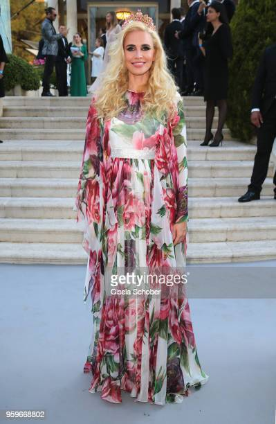 Jenia Tanaeva arrives at the amfAR Gala Cannes 2018 at Hotel du CapEdenRoc on May 17 2018 in Cap d'Antibes France