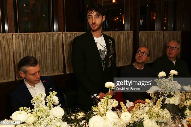 Jenico Preson Jacob Abrian and Gianluca Longo attend a breakfast when the Arab Fashion Council announces strategic partnership with the British...