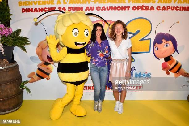 Jenifer and Lou attends the Maya L'Abeille 2 Les Jeux Du Miel Paris Special Screening at Cinema Gaumont Opera on June 24 2018 in Paris France