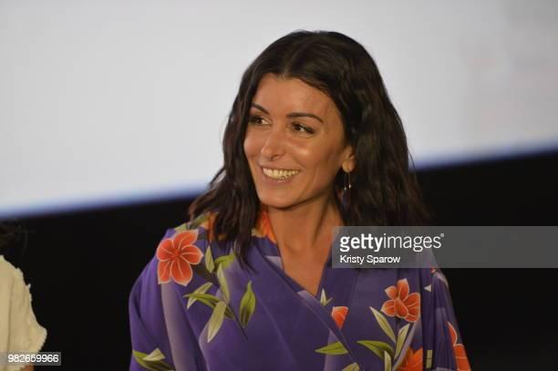 Jenifer attends the Maya L'Abeille 2 Les Jeux Du Miel Paris Special Screening at Cinema Gaumont Opera on June 24 2018 in Paris France