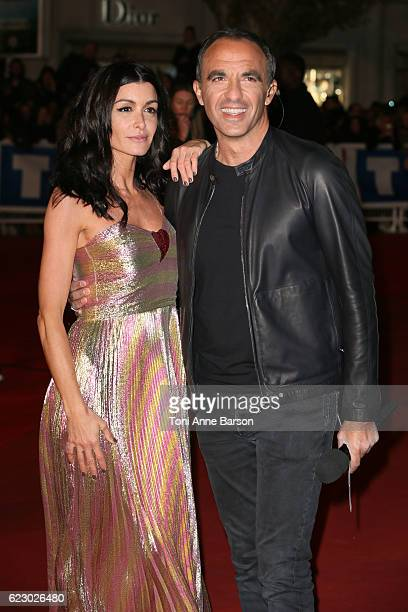 Jenifer Bartoli and Host Nikos Aliagas arrive at the 18th NRJ Music Awards at the Palais des Festivals on November 12 2016 in Cannes France