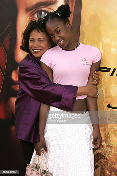 Jenifer Lewis and daughter Charmaine during SpiderMan 2 Los Angeles Premiere Arrivals at Mann Village in Westwood California United States