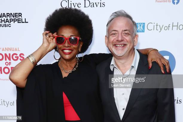 Jenifer Lewis and Marc Shaiman attend City Of Hope's 15th Annual Songs Of Hope at Alex da Kid's KIDinaKORNER Kampus on September 19 2019 in Sherman...