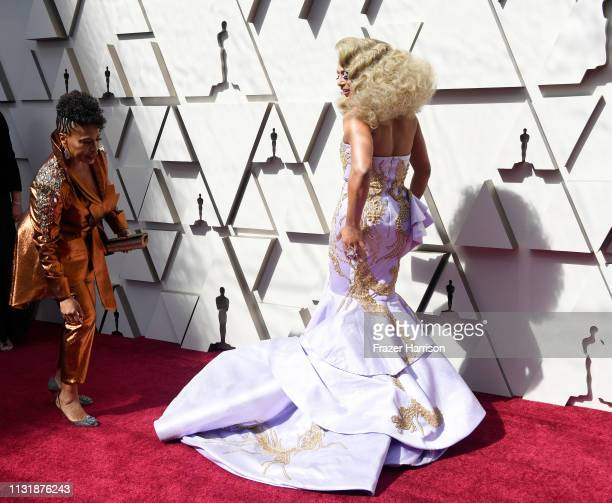Jenifer Lewis and Shangela attend the 91st Annual Academy Awards at Hollywood and Highland on February 24 2019 in Hollywood California