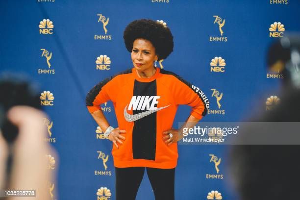 Jenifer Lewis arrives at the 70th Emmy Awards on September 17 2018 in Los Angeles California