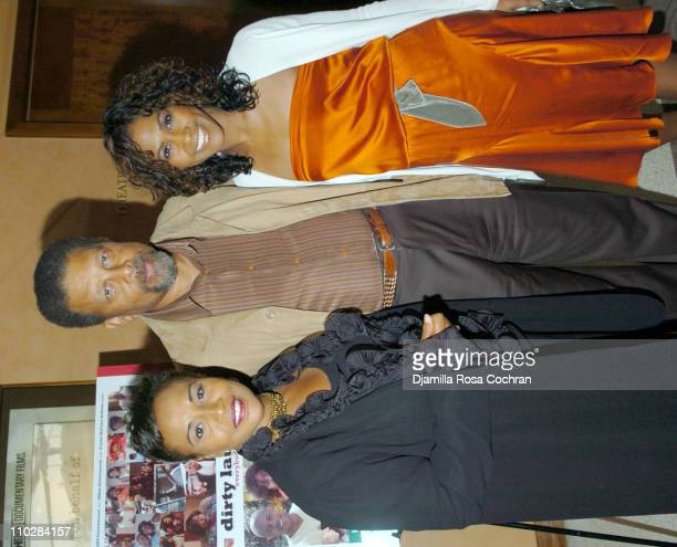 Jenifer Lewis Jim Kelly and Terri Vaughn during HRC Presents Sneak Preview of Dirty Laundry May 19 2006 at HBO Building in New York City New York...