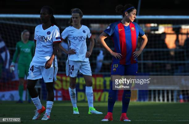 Jeniffer Hermoso during Womens UEFA Champions League match between FC Barcelona v PSG in Barcelona on April 22 2017