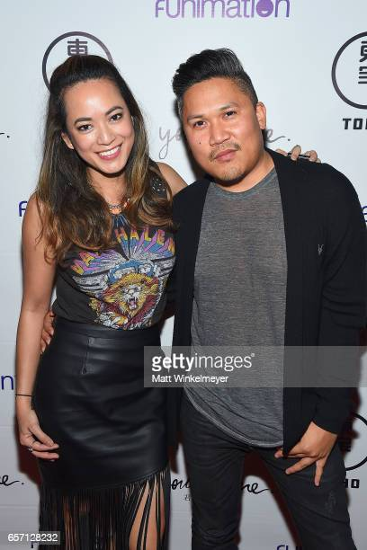Jenilee Reyes and Dante Basco attend Funimation Films presents 'Your Name' Theatrical Premiere in Los Angeles CA at Yamashiro Hollywood on March 23...