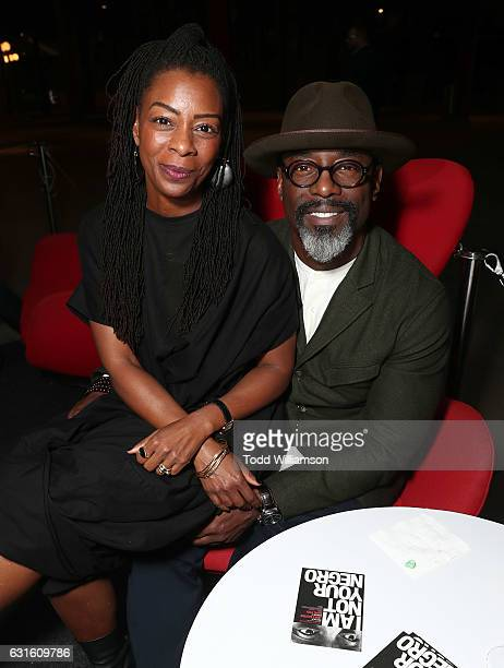 Jenisa Garland and Isaiah Washington attend the I Am Not Your Negro Los Angeles Premiere at LACMA on January 12 2017 in Los Angeles California