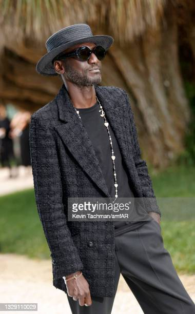 Jenke Ahmed attends the amfAR Cannes Gala 2021 at Villa Eilenroc on July 16, 2021 in Cap d'Antibes, France.