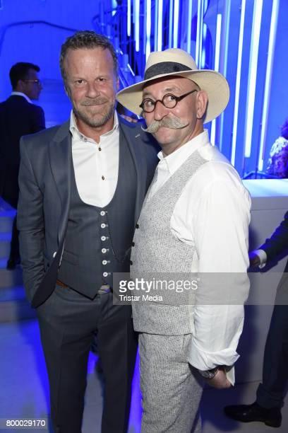 Jenke von Wilmsdorff and Horst Lichter attend the Bertelsmann Summer Party on June 22 2017 in Berlin Germany