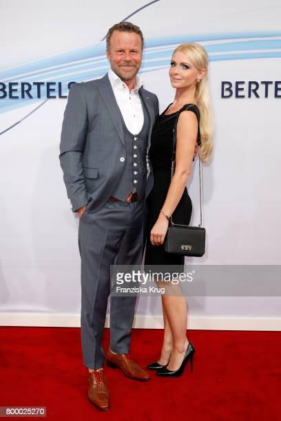 Jenke von Wilmsdorff and Mia Bergmann attend he 'Bertelsmann Summer Party' at Bertelsmann Repraesentanz on June 22 2017 in Berlin Germany